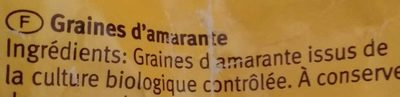 Amarante - Inhaltsstoffe