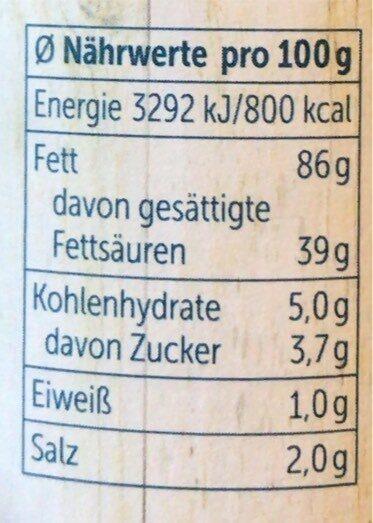 Genießer-Schmalz mit Röstzwiebeln - Nutrition facts - de
