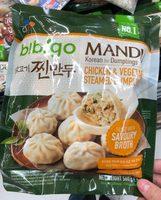 Mandu - Chicken & Vegetable Steamed Dumplings - Product - fr