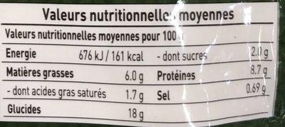 Mandu - Chicken & Vegetable Steamed Dumplings - Nutrition facts - fr