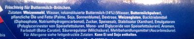 Buttermilch Brötchen - Zutaten - de