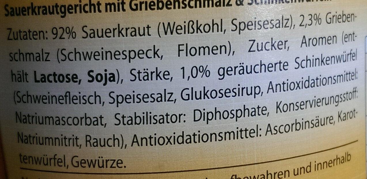 Schlachtekraut - Ingrédients - de