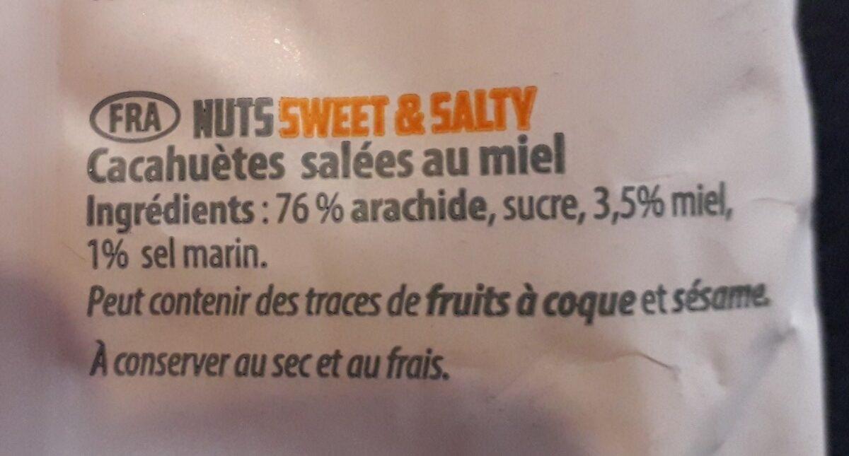 Nuts sweet & salty - Ingrédients - fr