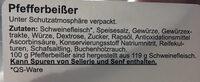 Pfefferbeißer - Zutaten - de