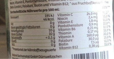 Multivitamin - Nährwertangaben - de