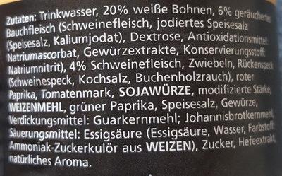 Bohnensuppe serbisch - Ingredients - de