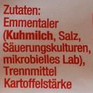 Geriebener Emmentaler - Ingredients
