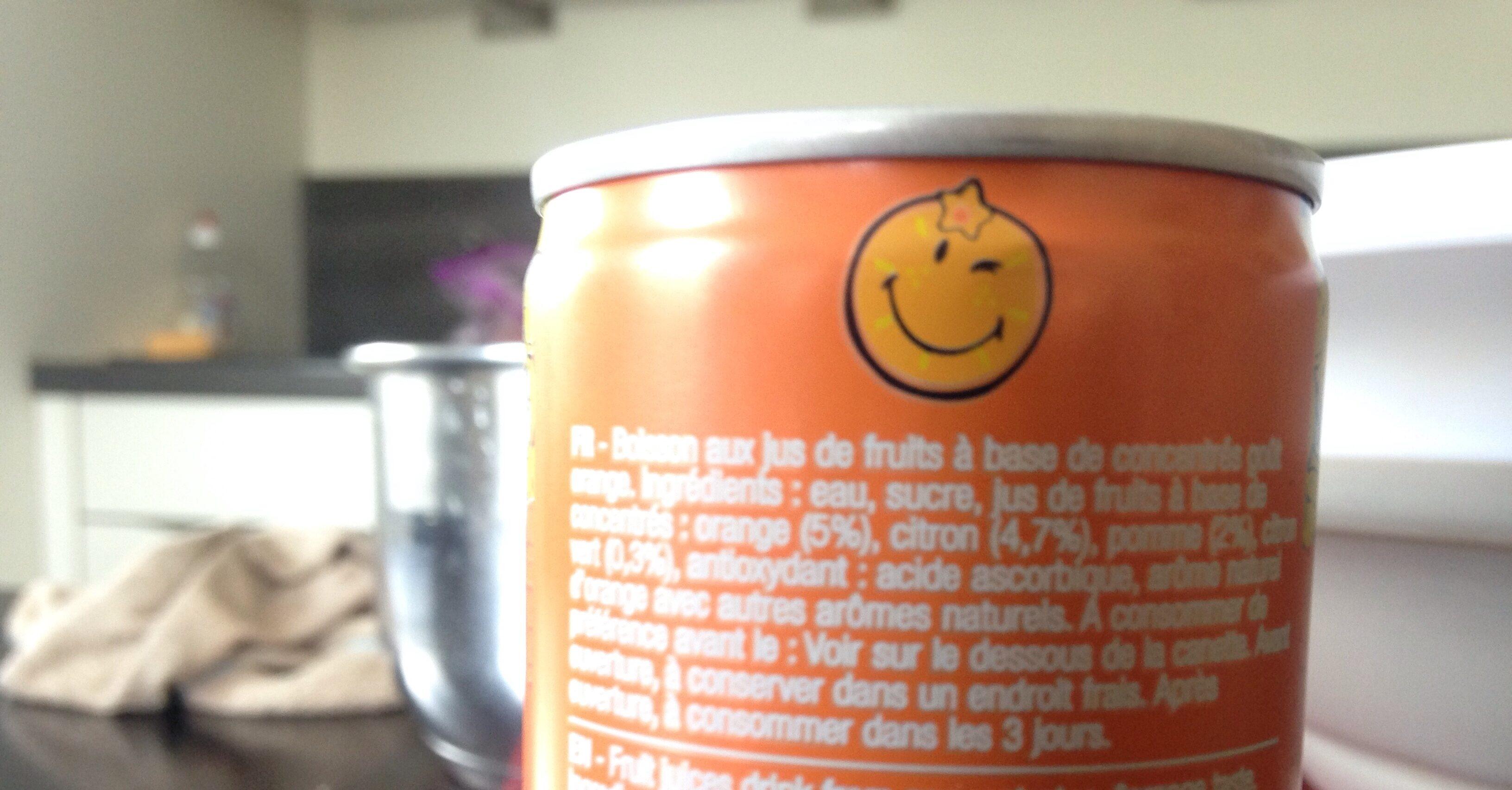 Smiley fruity orange - Ingrediënten - fr