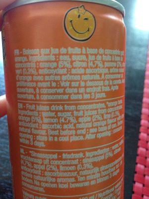 Smiley fruity orange - Voedingswaarden - fr