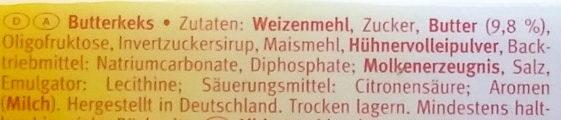 Leibniz Butterkeks -30% weniger Zucker - Ingrediënten