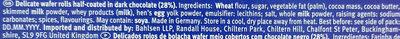 Wafeletten Dark - Ingrédients - en
