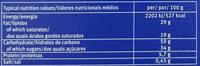 Wafeletten Dark - Informations nutritionnelles - en