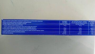 Waffeletten Milk - Voedingswaarden - en