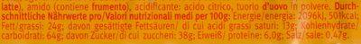 Choco & Caramel - Informations nutritionnelles - de