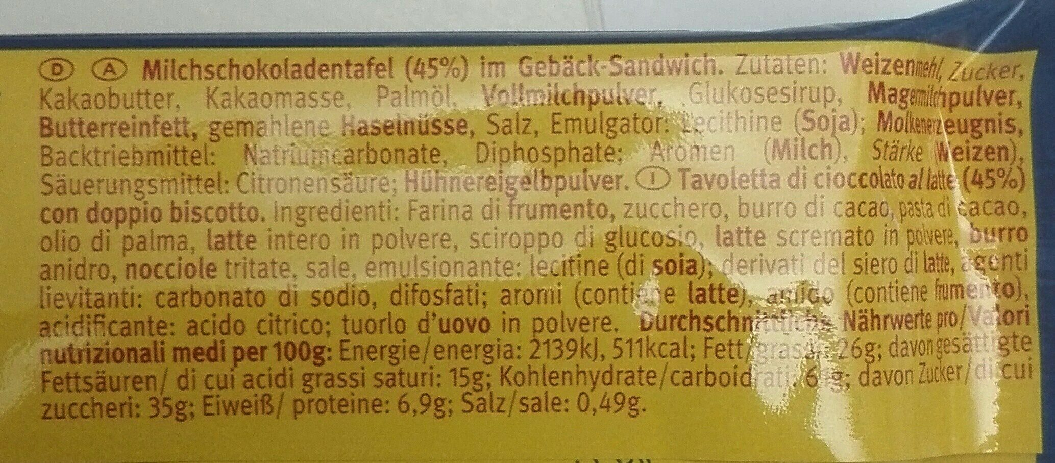 Pick Up Choco - Ingredients