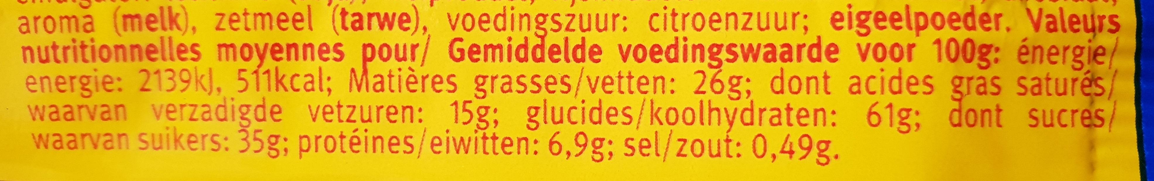 Pickup  choco - Voedingswaarden - fr