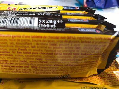 Pick up! Chocolat Noir - Voedingswaarden - fr