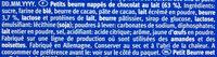 Leibniz Choco Vollmilch - Ingrédients - fr