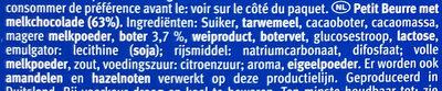 Leibniz Choco Vollmilch - Ingrediënten - nl