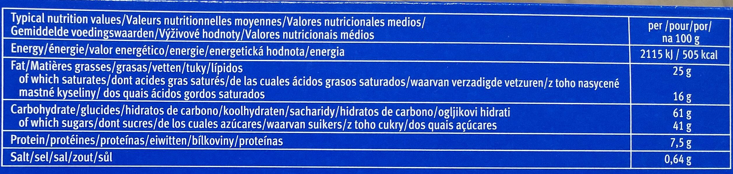 Leibniz Choco Vollmilch - Informations nutritionnelles - en