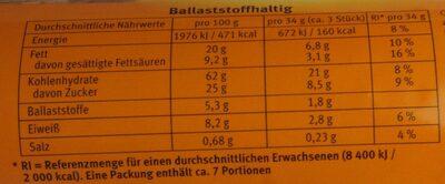 Hobbits Kernig - Informations nutritionnelles - de