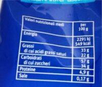 Waferì finissimi wafe assortiti - Valori nutrizionali - fr