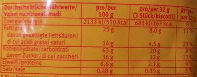 Pick Up Minis 12x Choco - Nährwertangaben - de