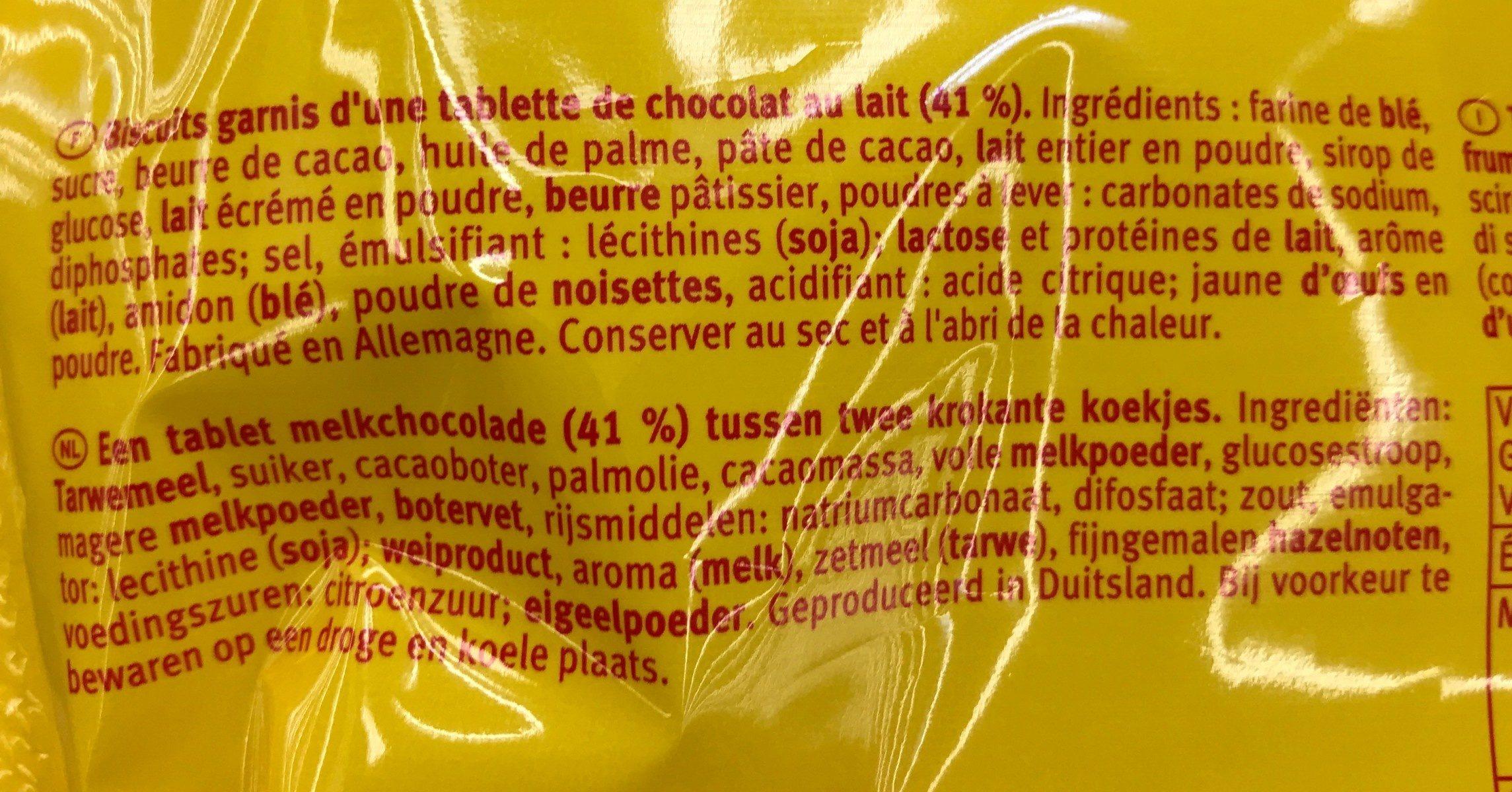 Pick up mini chocolat - Ingrediënten - fr