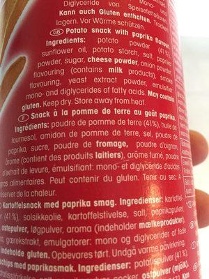 Chips Paprika - Ingredients