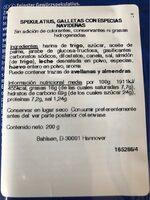 Feinster Spekulatius Gewürz - Nutrition facts