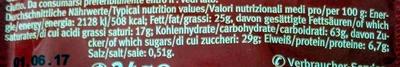 Cocoa Créme - Nutrition facts