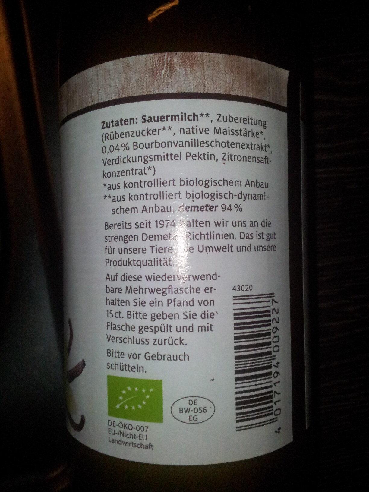 Vanille Fresh - Ingrediënten - de