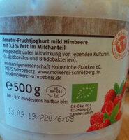 Demeter SCHROZBERGER Fruchtyoghourt mild, Himbeere - Product - de