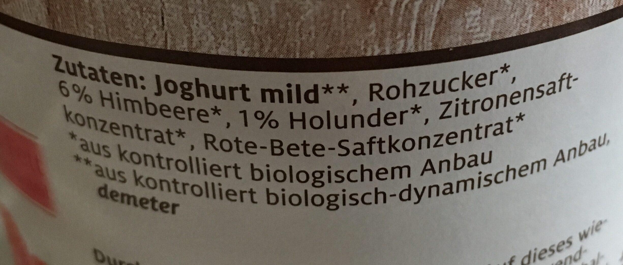 Demeter SCHROZBERGER Fruchtyoghourt mild, Himbeere - Ingrediënten - de