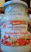 Rhabarber-Vanille Joghurt mild - Produit - de
