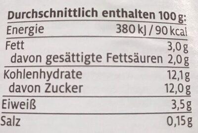 Rhabarber-Vanille Joghurt mild - Informations nutritionnelles - de