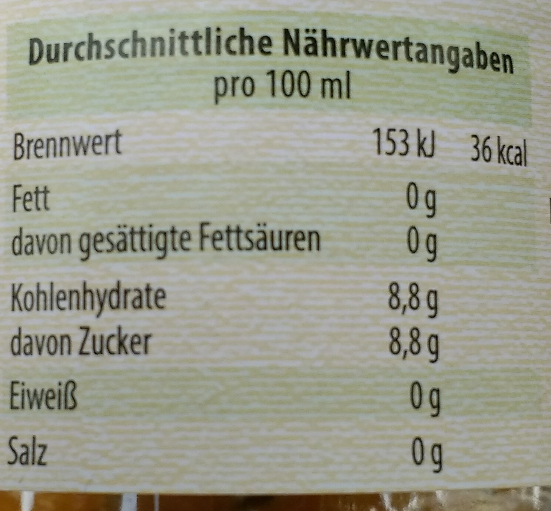 Zitronenlimonade - Nutrition facts