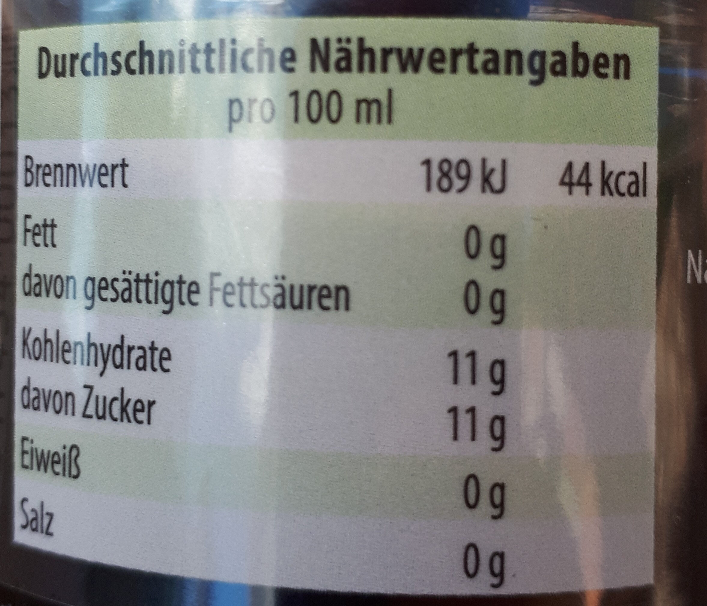 Bad Brambacher Cola - Nutrition facts - de