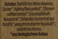 Landpark Bio-Quelle Grantapfel Acai - Ingredienti - de