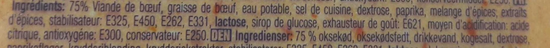 Biberli sigir salam dilimli - Ingrediënten