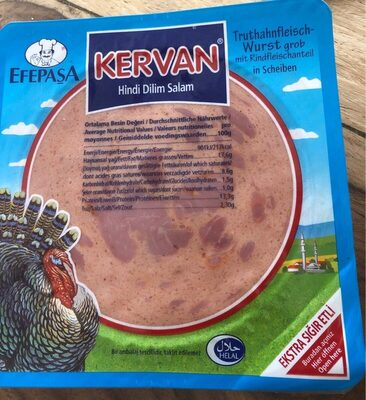 Salam Kervan Yöre - Informations nutritionnelles - fr