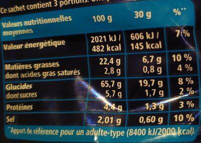 Monster Munch Salé - Informations nutritionnelles