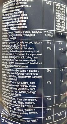 Monster munch salé - Wartości odżywcze