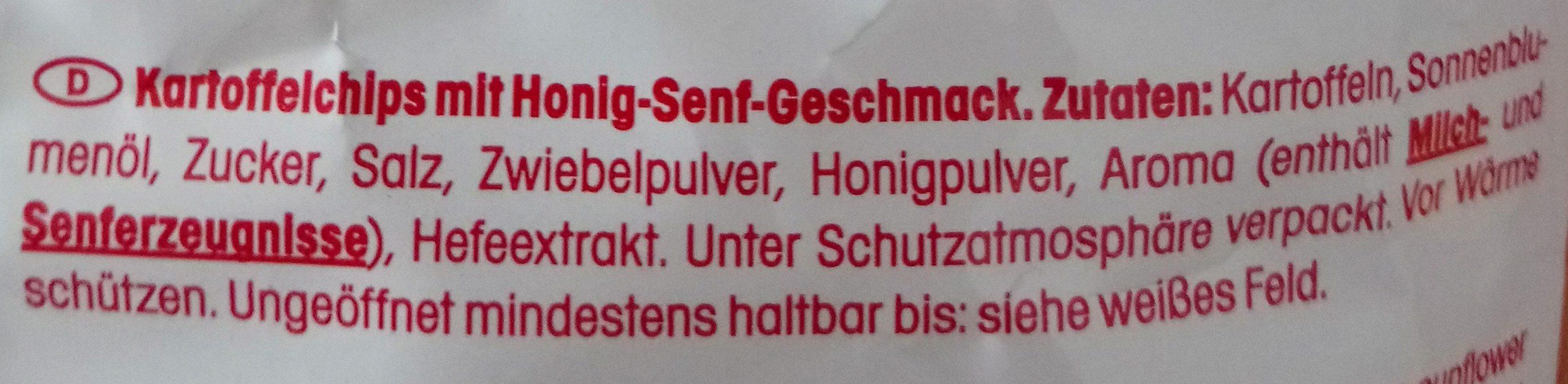 Crunchips Honig & Senf - Ingredients - de