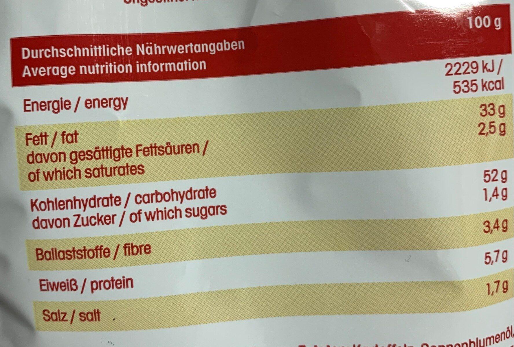 Chrunchips - Nutrition facts - de