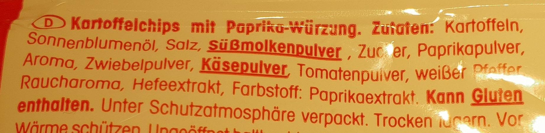 Crunchips Paprika - Ingredients - de