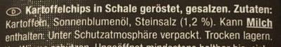Roh Scheiben Kartoffelchips - Ingrédients
