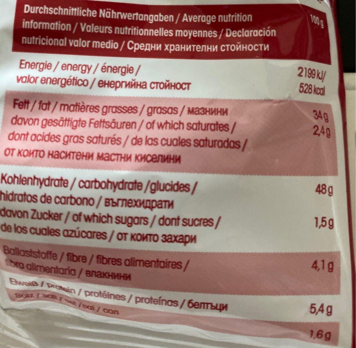 Crunchips - Nutrition facts - fr