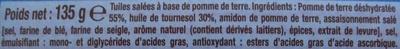 Crunchips au sel fin - Ingredients