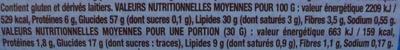 Crunchips au sel fin - Nutrition facts